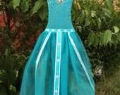 Elsa hairbow holder dress