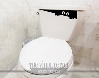 Toilet Monster Vinyl for Halloween or any occasion Decal