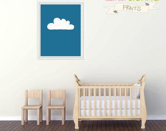 "Baby Girl Nursery Art, Nursery Prints, Kids Wall Art, Baby Girls Room, Baby Nursery Decor, Dreamy Cloud 11x14"" PDF"