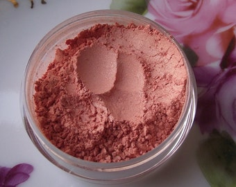 Purdy Face Blush in Little Missy - Soft Orange Gold Sparkle Highlight Vegan 20 Gram Jar Blush