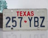 License Plate Texas - Old & Rusty for Vintage Display, Collectible Auto Car Memorabilia / Retro Industrial, Rustic Barn Farm Decor