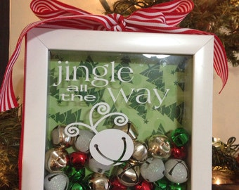 Jingle All The Way Vinyl Lettering Decal ONLY