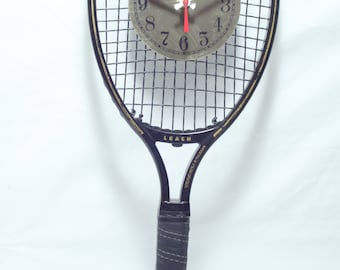 Leach Graphite Performer Racquetball Racket Wall Clock, Geekery, Clocks by DanO