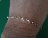 Silver Bracelet 925 Add a Charm Italy Sterling Silver Like New Gift Birthday Anniversary 7 Inch Bride Groom Wedding  Gift  Ladies Womens