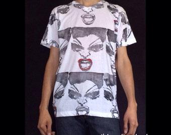 Hand printed/painted unisex Divine Dawn Davenport Female Trouble t-shirt