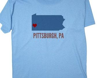 I love pittsburgh etsy for Custom t shirt printing pittsburgh