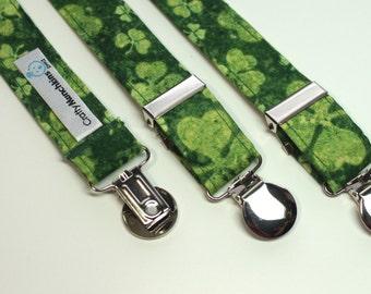Suspenders - Shamrock Green Adjustable Suspenders