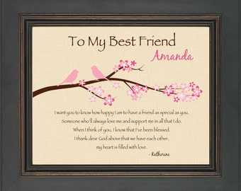 best friend gift personalized print for best friend 8x10 print special ...