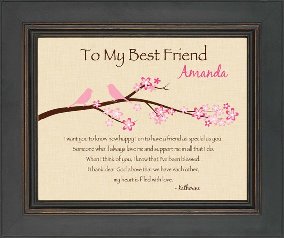 Items similar to best friend gift personalized print for Christmas presents for your best friend