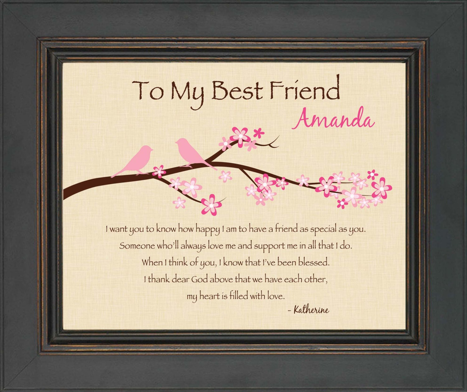 Best friend gift personalized print for best friend 8x10 for Gift to give your best friend