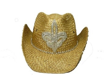 Holly bling cowboy hat