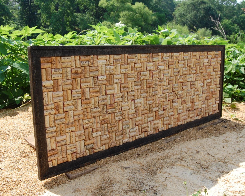 large wine cork board corkboard framed cork board. Black Bedroom Furniture Sets. Home Design Ideas