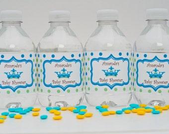 New Little Prince Waterproof Water Bottle Label, Little Prince Waterproof Adhesive Water Bottle Label, Baby Shower Water Bottle Label
