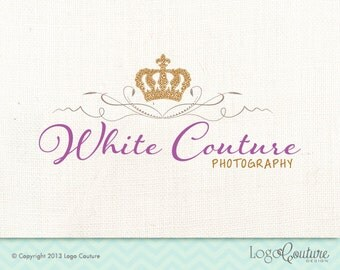 Premade Crown Logo - White Couture - Royal - Logo for a Photography Studio - Small Business - Photography Business