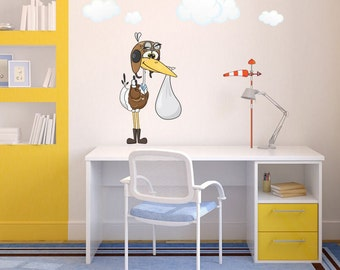 Wall sticker - Stork (3426f)