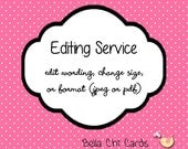 Editing Service Add On