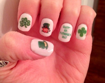 St. Patricks Day Nail Decals