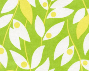 "Lindy Leaf in Green - 31"" Remnant - Heather Bailey Fabric - Nicey Jane Collection"