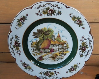 English Countryside Wood & Sons Ascot Plate   Enoch Wood Service Plate
