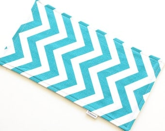 SALE || Burp Cloth || Chevron Turquoise