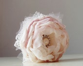 Fabric Flower Corsage,  Wrist Corsage,  Wedding Corsage,  Pearl Bracelet, Pink Corsage - Made to order
