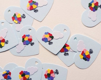Heart Balloon House Gift Tags (Set of 12)