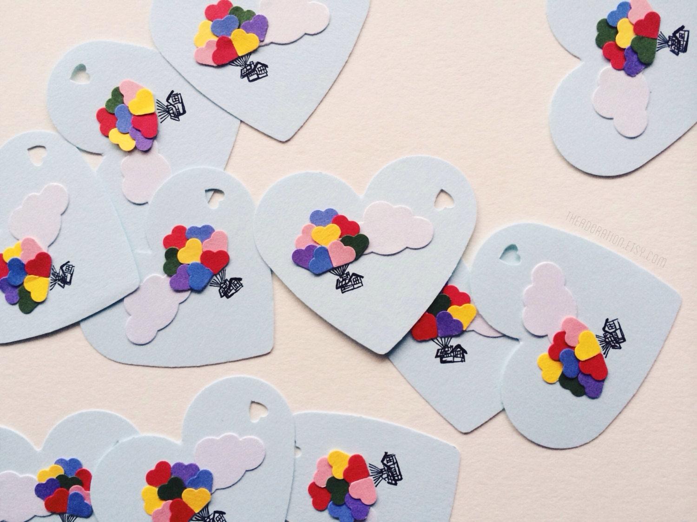Balloon Tag: Heart Balloon House Gift Tags Set Of 12