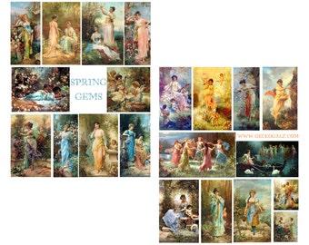 Spring Time Gems Digital Collage Set
