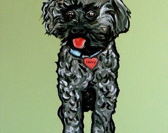 DOG Print- RESCUED Dog - DANNY - Signed by Artist A.V.Apostle