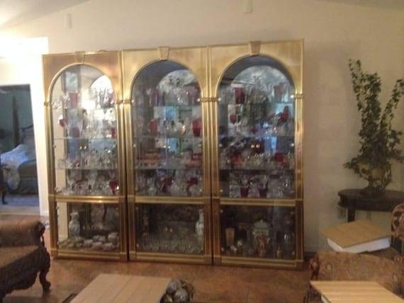 mastercraft pair or single brass vitrine etagere by feelinvintage. Black Bedroom Furniture Sets. Home Design Ideas