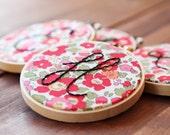 Monogram Embroidery Hoop Art