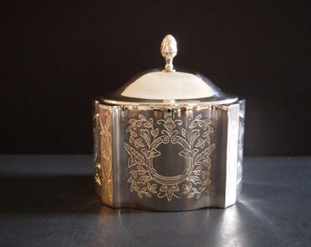 Silver Plated Jewelry Trinket Box