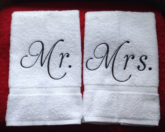 Mr and mrs hand bath towels for Mr and mrs spa
