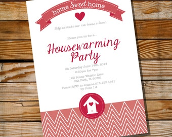 Housewarming Invitation - Housewarming Party - Instantly Downloadable and Editable File