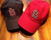St. Louis Cardinals Bling Hat Navy or Red