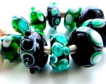 Handmade Lampwork Bead Set, Khaosbeads, SRA