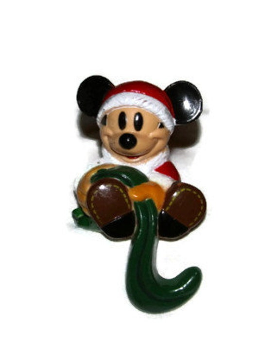 Vintage Mickey Mouse Disney Christmas Stocking Holder Hook
