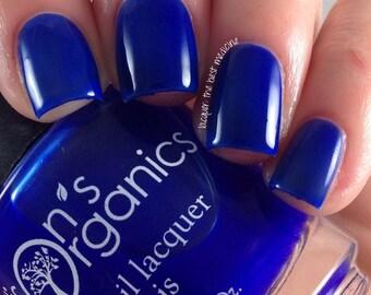 Blue Nail Polish - Blue Crelly Nail Polish - Nail Art - Vegan Nail Polish - Dark Blue Nail Lacquer - Bigger on the Inside