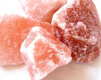 Himalayan PINK SALT CRYSTALS - Big Chunks - 40-60 mm - Pure - Four Ounces