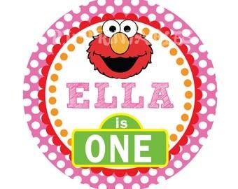 Elmo Birthday Age Centerpiece Sign- Customized Digital File
