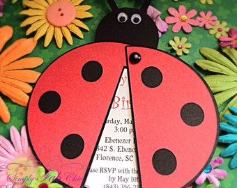 Ladybug Personalized Invitation