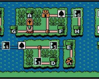 Super Mario Bros 3 World 8 Map Cross Stitch Pattern