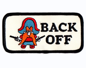 back off embroidered patch