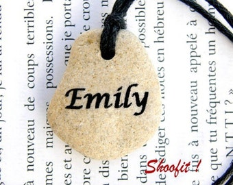 Personalized stone, Name necklace, personalized name, Name pendant, personalized name necklace, personalized gift, personalized party gift ,