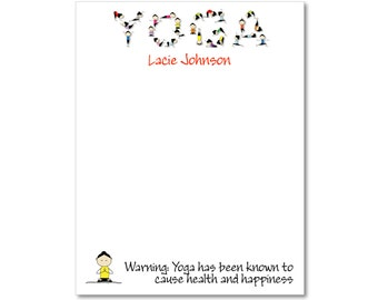 Personalized Yoga Notepads - Set of 2