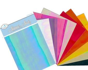 Elizabeth Craft Designs Shimmer Sheetz Sample Pack - Iris - SS-0227 - 10 pack