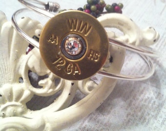 2nd Shot Jewels, Bullet/Shotgun Jewelry, Cuff Bracelet, Made from spent rounds of Ammo