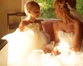 Ivory Flower Girl Ball Gown Dress