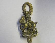 Vintage  Brass Door Knocker Dick Turpin The Highwayman.