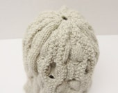 Knitted Hat, Hand Knit Hat in Aran Pattern Winter Hat Hamish Hat